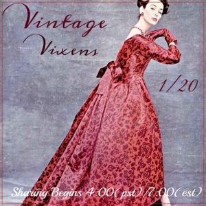 WEDNESDAY 1/20 Vintage Vixens Sign Up Sheet